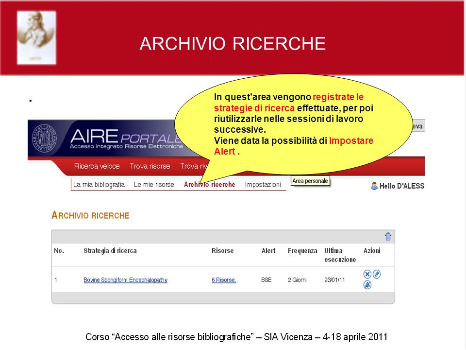 ARCHIVIO RICERCHE.