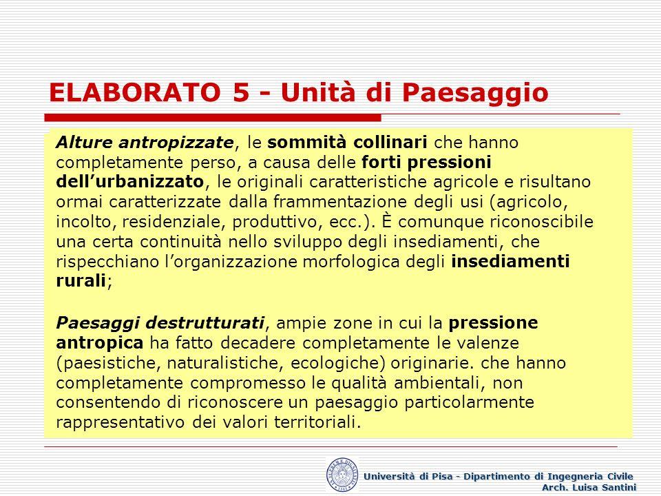 ELABORATO 5 - Unità di Paesaggio Università di Pisa - Dipartimento di Ingegneria Civile Arch. Luisa Santini INDIVIDUAZIONE DELLE UNITÀ DI PAESAGGIO. C
