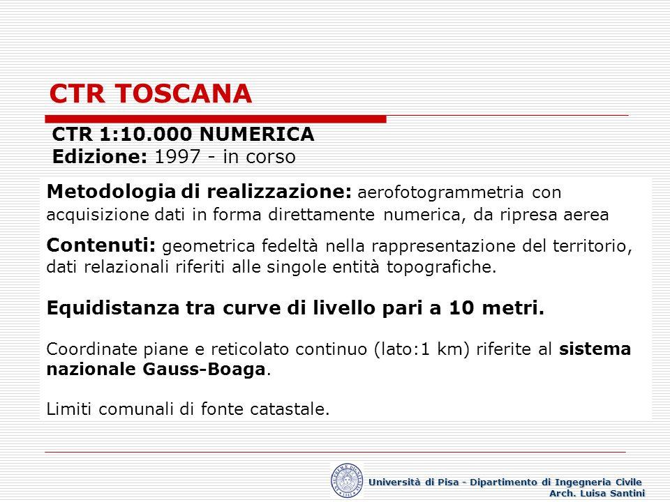 ELEMENTI SISTEMA NATURALE Università di Pisa - Dipartimento di Ingegneria Civile Arch.