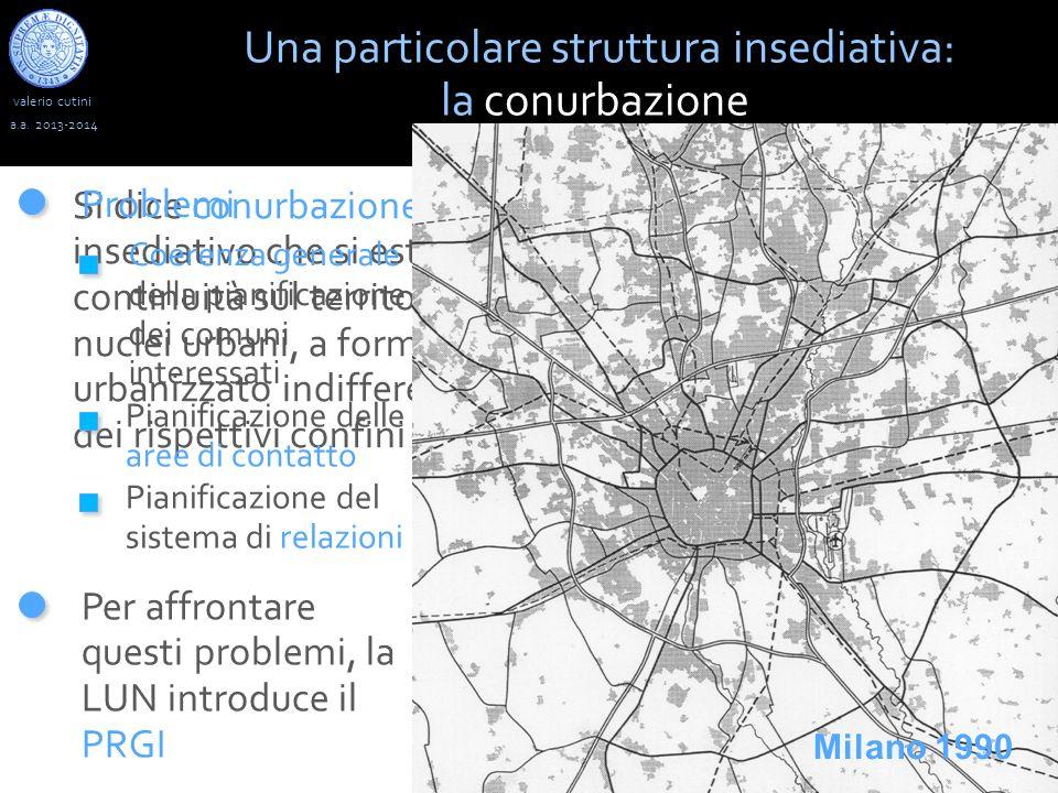 valerio cutini Una particolare struttura insediativa: la conurbazione a.a. 2013-2014 Si dice conurbazione un aggregato insediativo che si estende senz