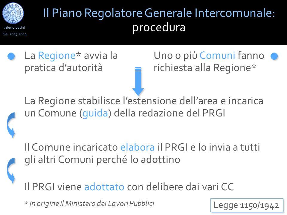 valerio cutini Il Piano Regolatore Generale Intercomunale: procedura a.a.
