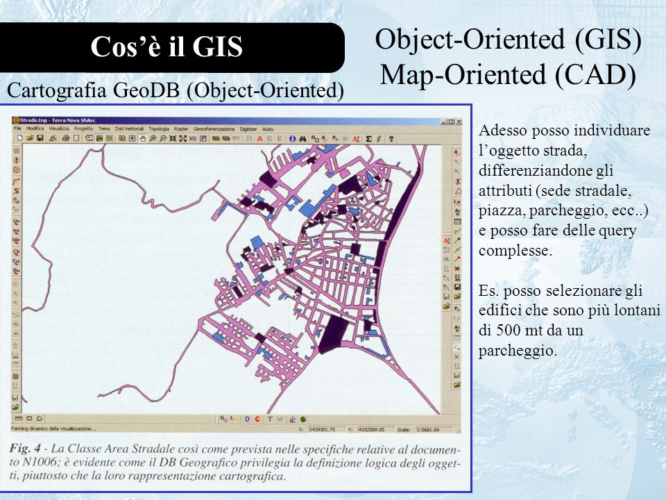 Il Geodatabase Feature datasetFeature class s.a.Tables Feature class Relazioni GeoDB ArcCatalog Case Tools (UML) Domini