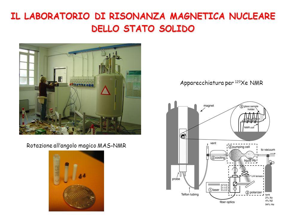 IL LABORATORIO DI RISONANZA MAGNETICA NUCLEARE DELLO STATO SOLIDO Rotazione allangolo magico MAS-NMR Apparecchiatura per 129 Xe NMR