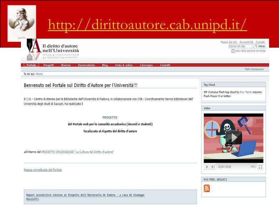 http://dirittoautore.cab.unipd.it/