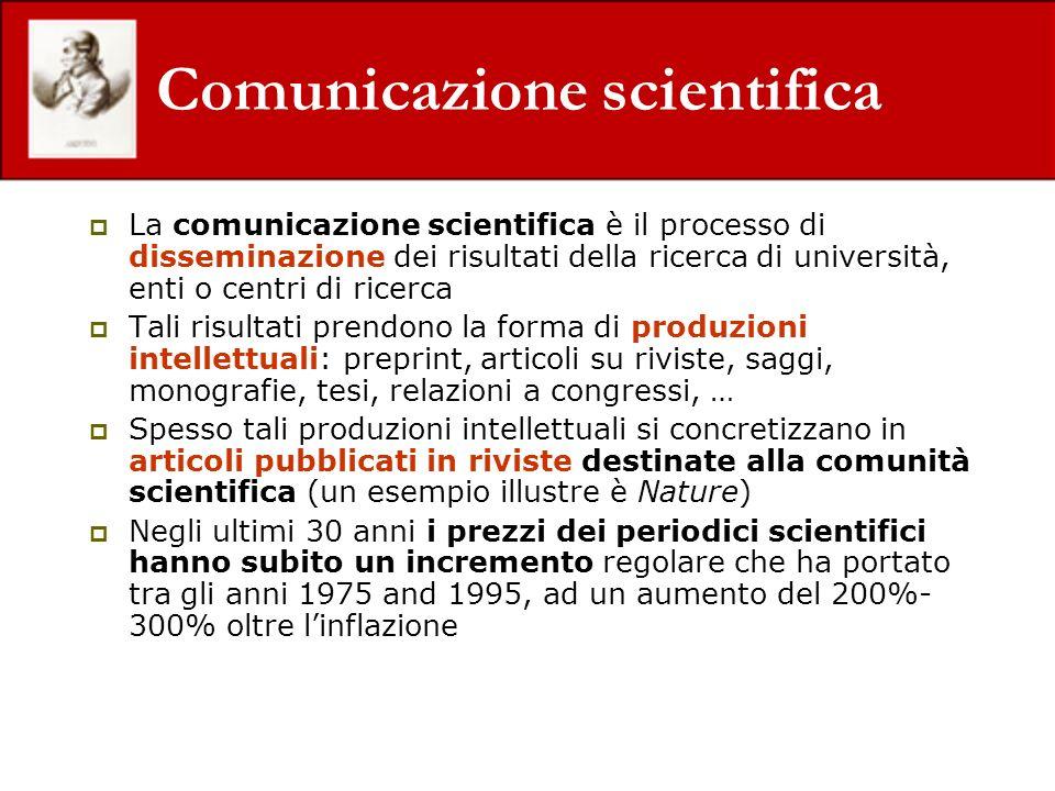 Comunicazione scientifica La comunicazione scientifica è il processo di disseminazione dei risultati della ricerca di università, enti o centri di ric