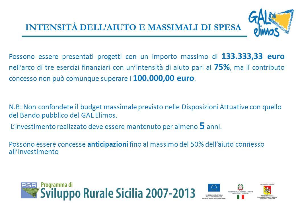 Per il finanziamento delle domande di aiuto valutate positivamente la dotazione finanziaria pubblica TOTALE della misura 312 è pari ad euro 350.000,00.