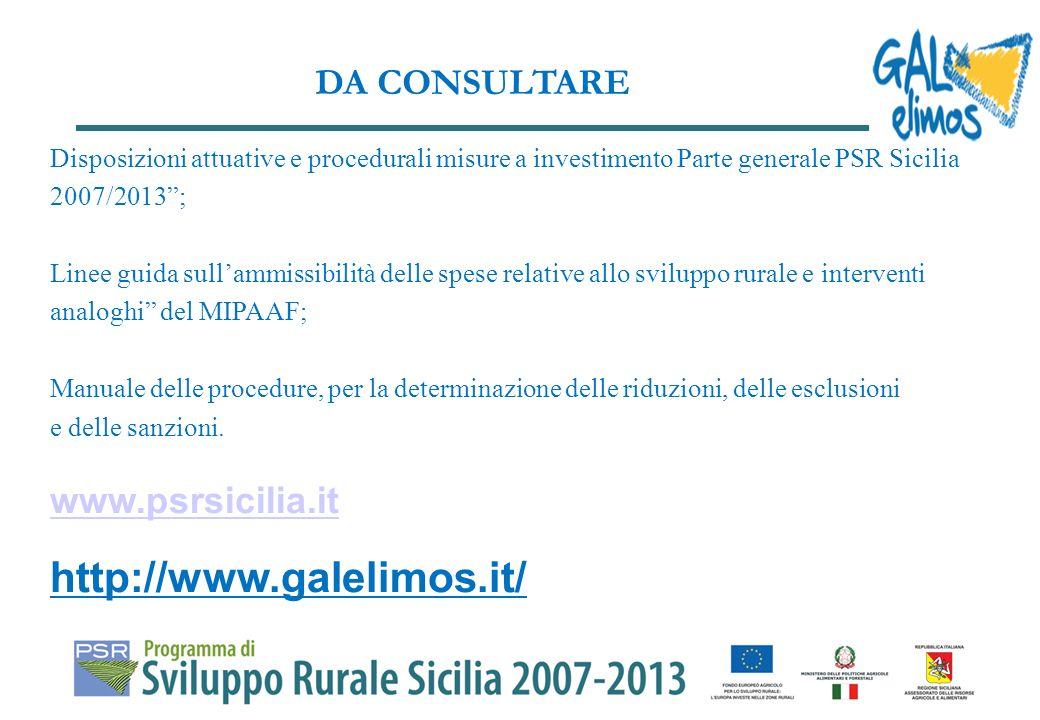 Il GAL Elimos disporrà accertamenti sulla realizzazione delle opere finanziate, anche in corso dopera per verificare landamento e le spese effettivamente sostenute.