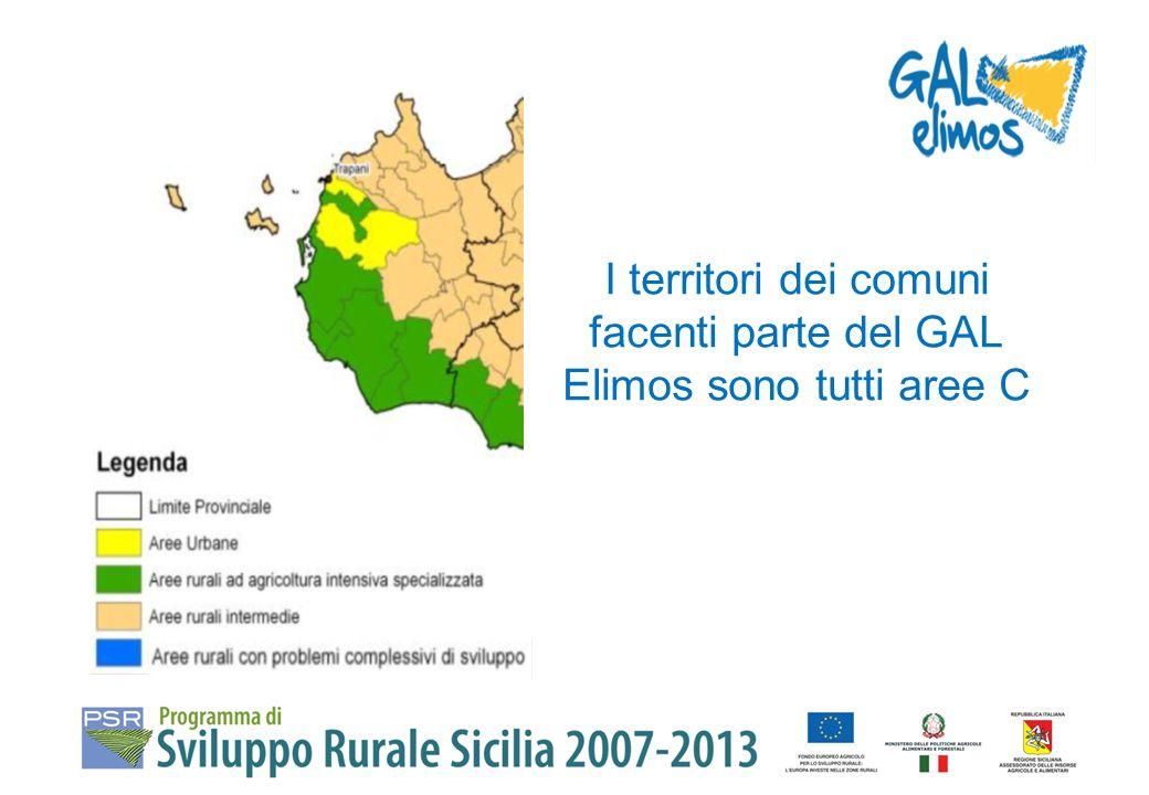 LOCALIZZAZIONE DEGLI INTERVENTI Macro-aree C e D come individuate dal PSR Sicilia 2007-2013.