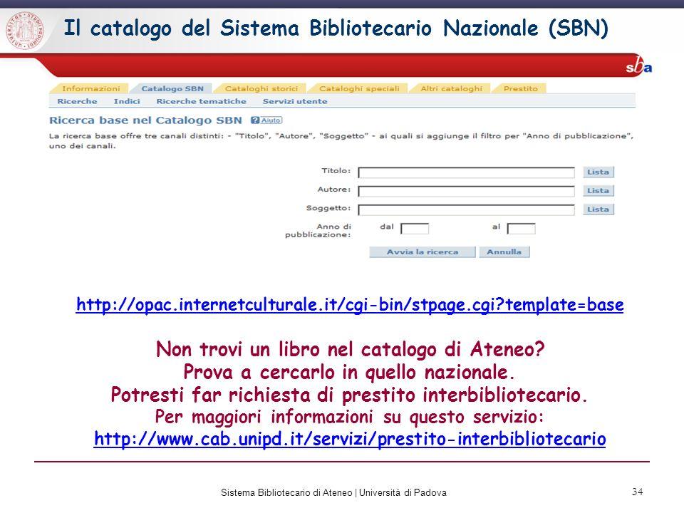 35 Sistema Bibliotecario di Ateneo | Università di Padova Catalogo Italiano dei Periodici (ACNP) http://acnp.cib.unibo.it/cgi-ser/start/it/cnr/fp.html Non trovi una rivista nel catalogo di Ateneo.