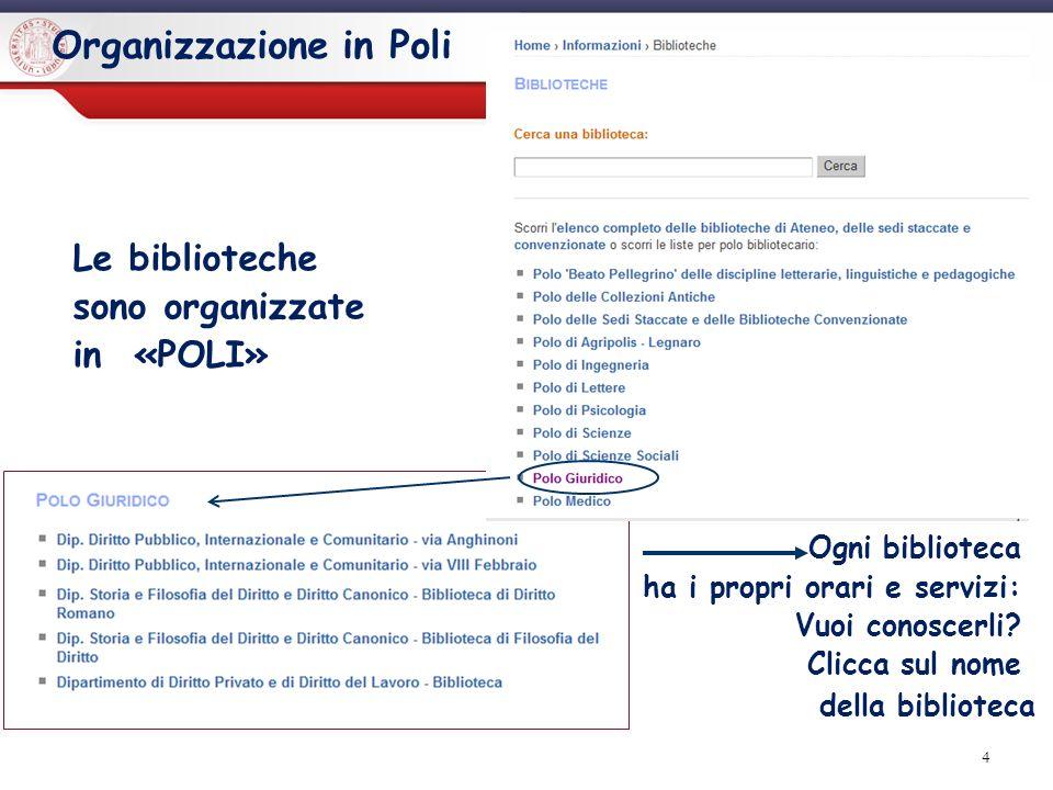 Sistema Bibliotecario di Ateneo | Università di Padova 5 Il prestito Quanti libri posso prendere in prestito nelle biblioteche del Polo giuridico.
