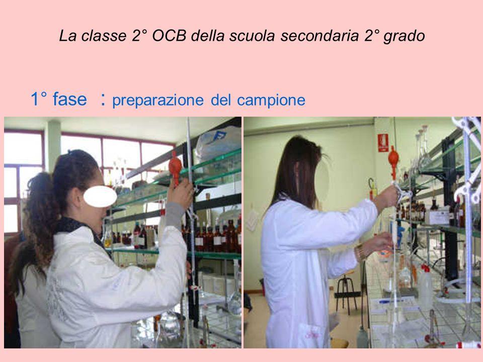 La classe 2° OCB della scuola secondaria 2° grado 1° fase : preparazione del campione