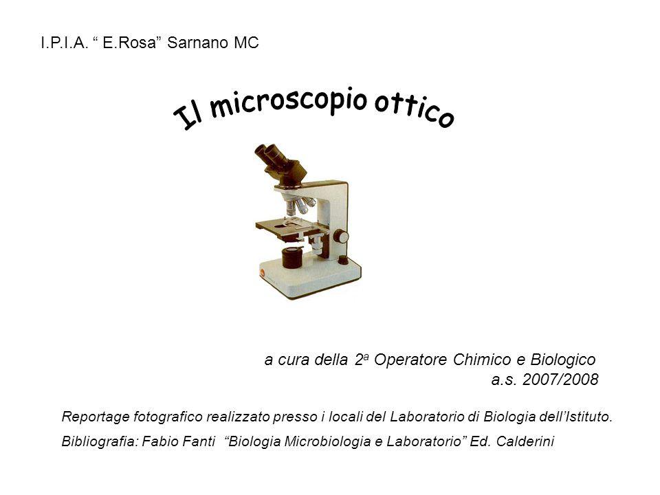 a cura della 2 a Operatore Chimico e Biologico a.s. 2007/2008 I.P.I.A. E.Rosa Sarnano MC Reportage fotografico realizzato presso i locali del Laborato