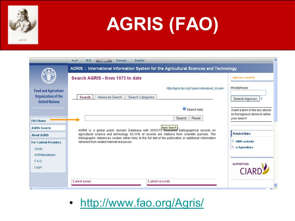 http://www.fao.org/Agris/