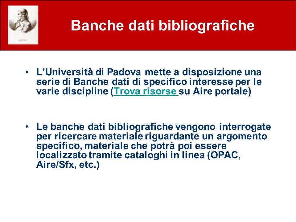 Quick-set in RICERCA VELOCE Nel quick-set predisposto per la Ricerca veloce nel Portale AIRE sono presenti le banche dati: AGRICOLA Articles (NAL) Web of Science (ISI) PubMed AGRIS (FAO) AgEcon Zoological Records 1997-1999 (Ovid) SCOPUS (Elsevier)