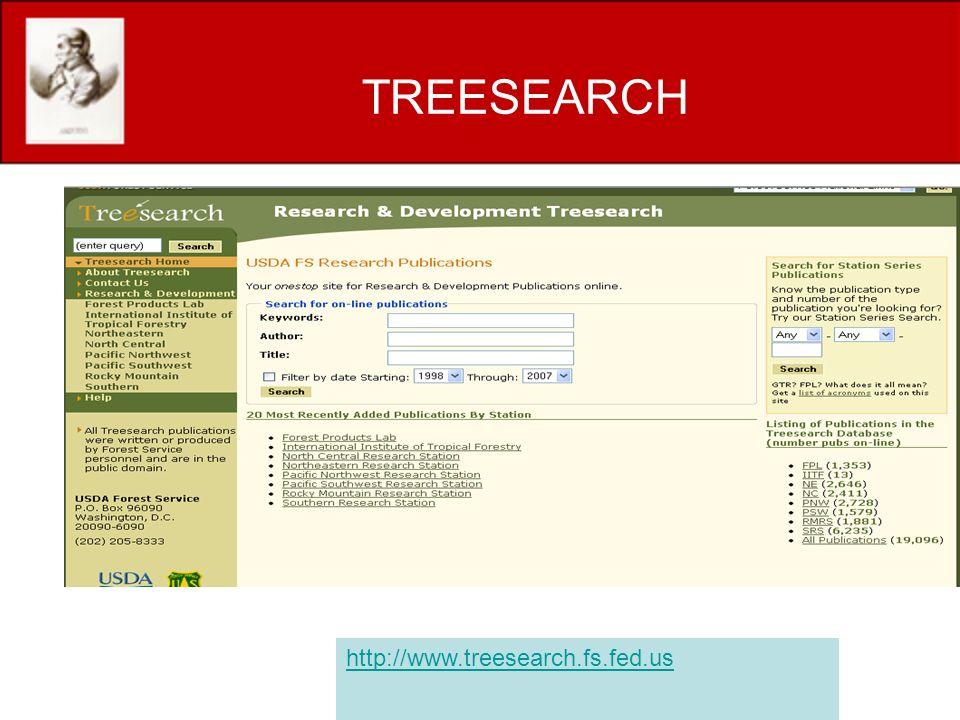 TREESEARCH http://www.treesearch.fs.fed.us