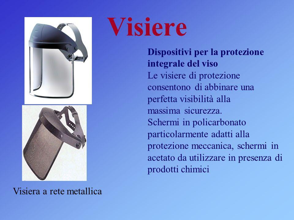 Visiere Visiera a rete metallica Dispositivi per la protezione integrale del viso Le visiere di protezione consentono di abbinare una perfetta visibil