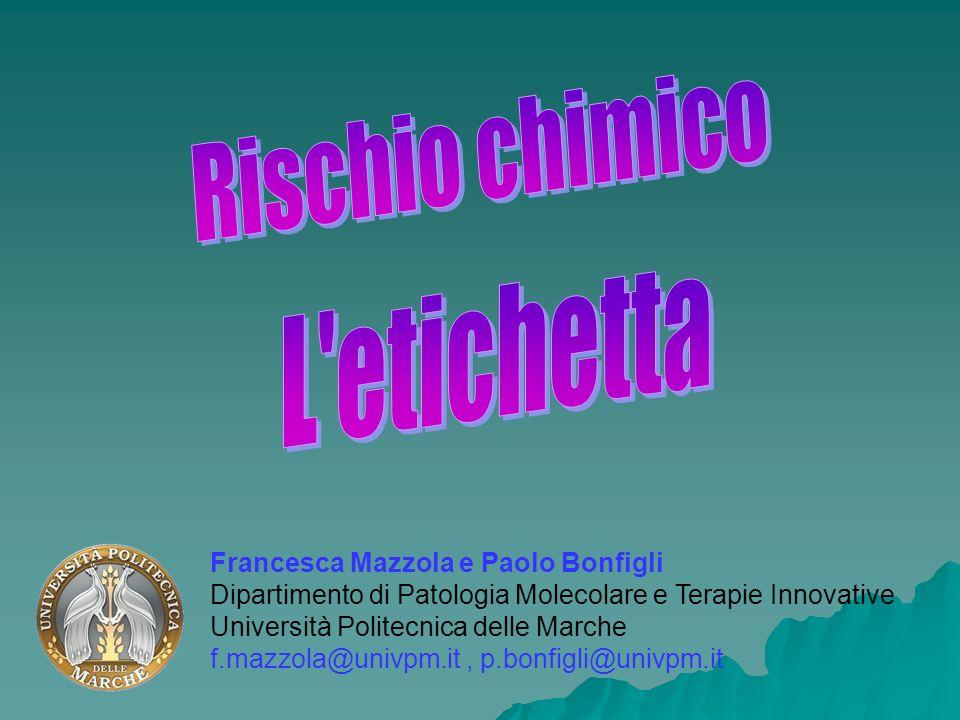 Francesca Mazzola e Paolo Bonfigli Dipartimento di Patologia Molecolare e Terapie Innovative Università Politecnica delle Marche f.mazzola@univpm.it,