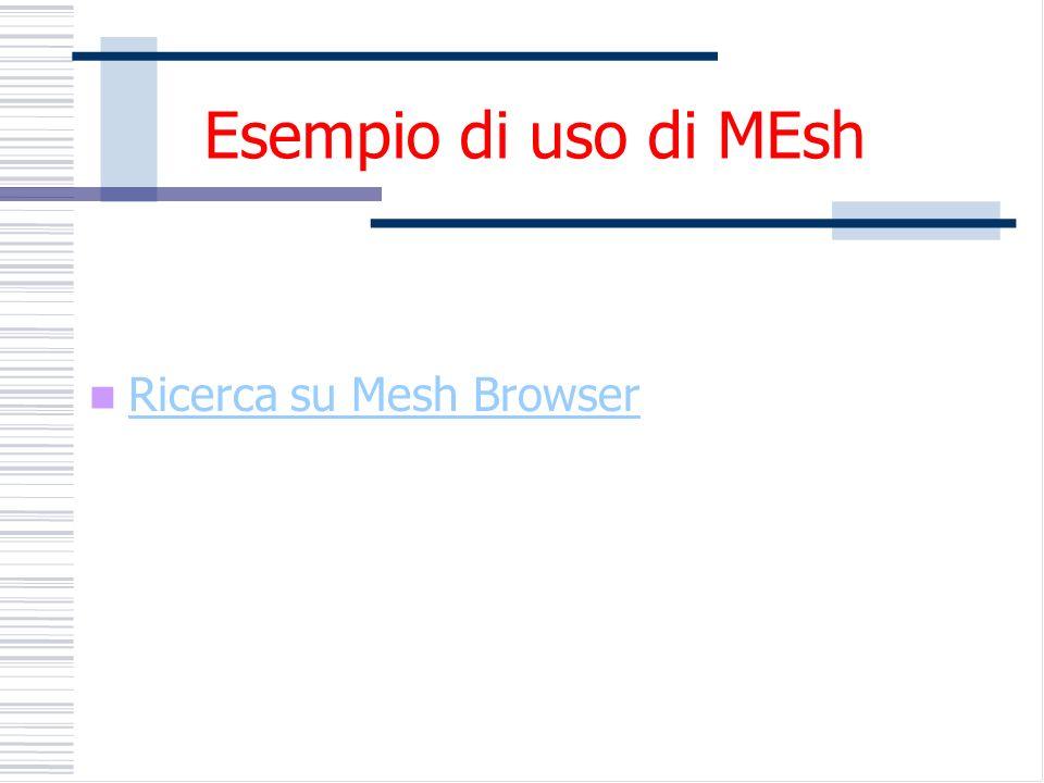 Esempio di uso di MEsh Ricerca su Mesh Browser