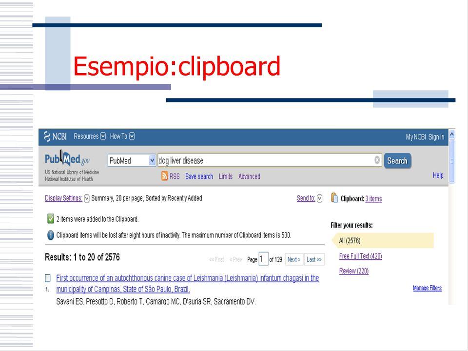 Esempio:clipboard