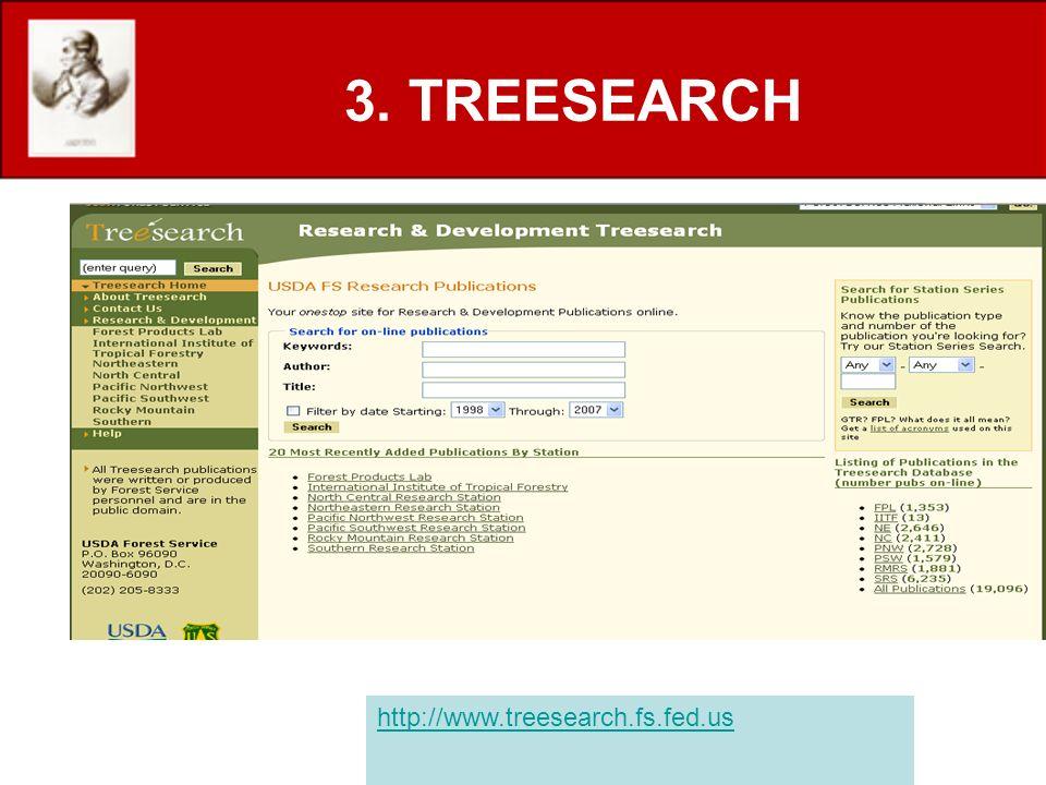 3. TREESEARCH http://www.treesearch.fs.fed.us