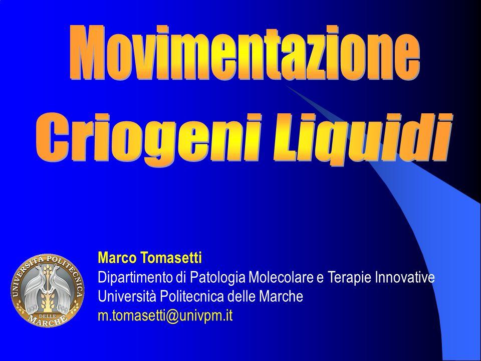 Marco Tomasetti Dipartimento di Patologia Molecolare e Terapie Innovative Università Politecnica delle Marche m.tomasetti@univpm.it