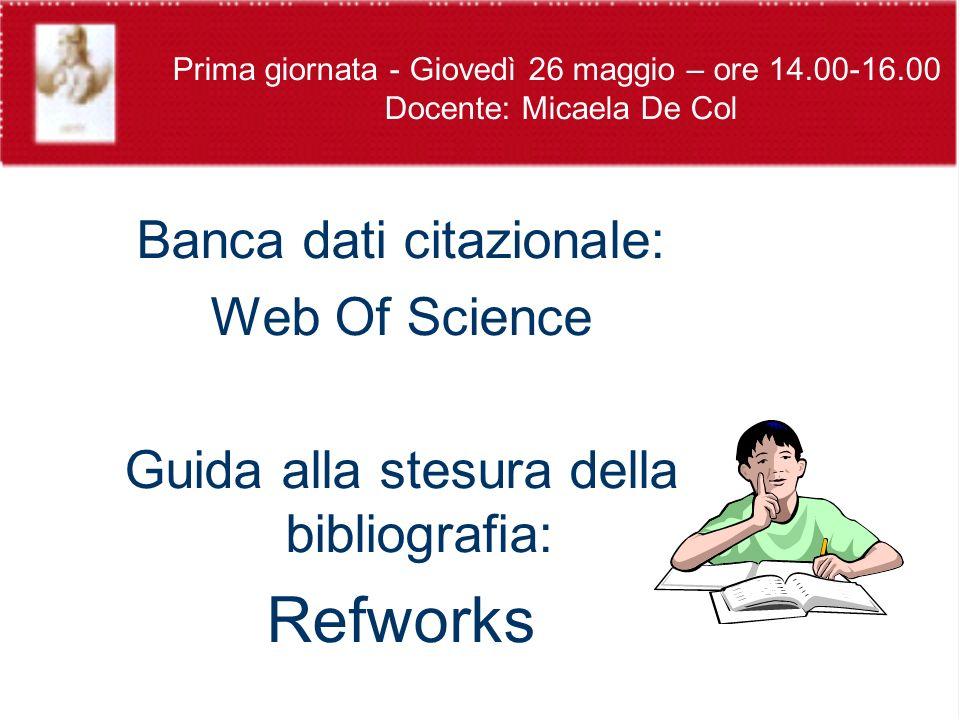 WoS - RICERCA GENERALE - SEARCH Ricerca per argomento (topic o title) = ricerca di parole o frasi Es.