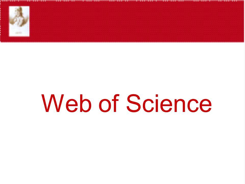 WoS - RICERCA GENERALE - ADVANCED SEARCH per cercare documenti utilizzando etichette di campi, operatori logici e combinazioni di set