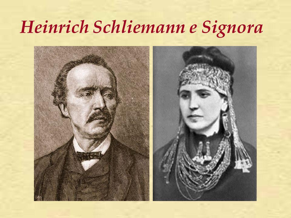 Heinrich Schliemann e Signora