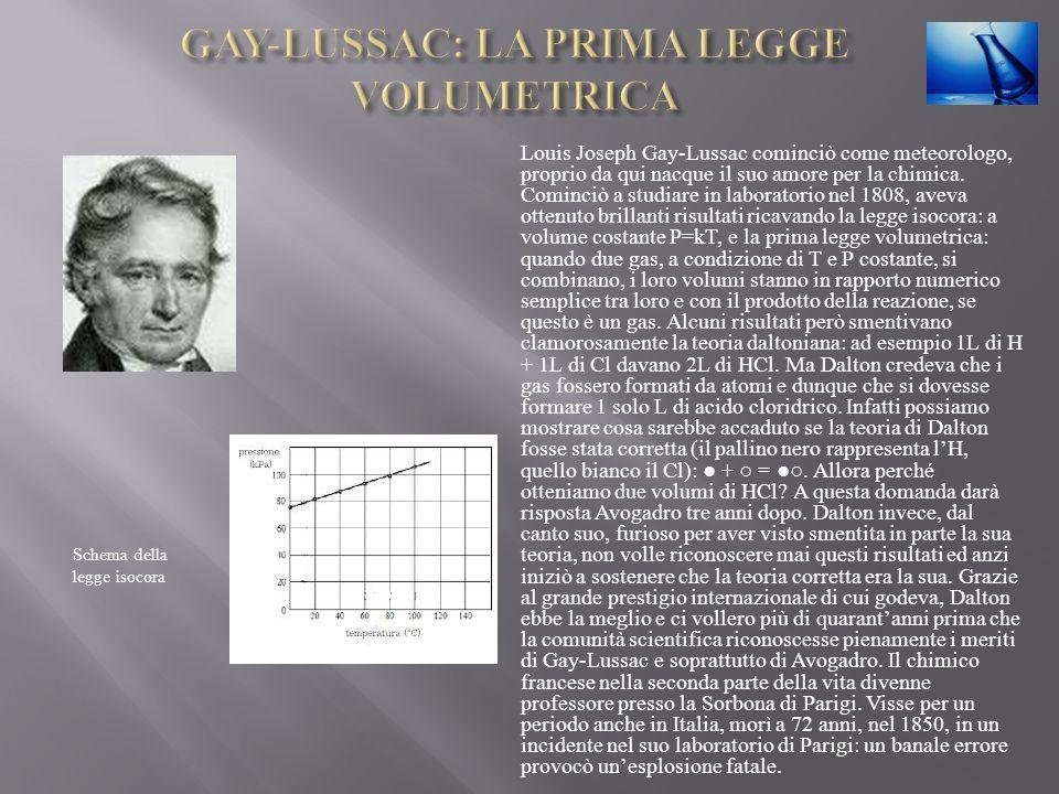 Louis Joseph Gay-Lussac cominciò come meteorologo, proprio da qui nacque il suo amore per la chimica. Cominciò a studiare in laboratorio nel 1808, ave