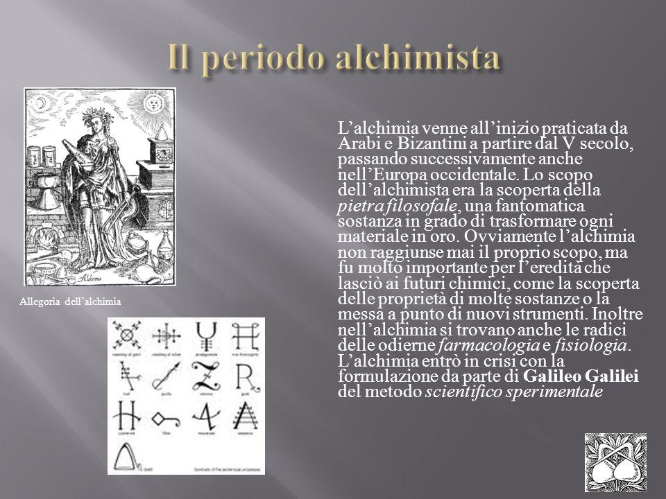 Lalchimia venne allinizio praticata da Arabi e Bizantini a partire dal V secolo, passando successivamente anche nellEuropa occidentale. Lo scopo della