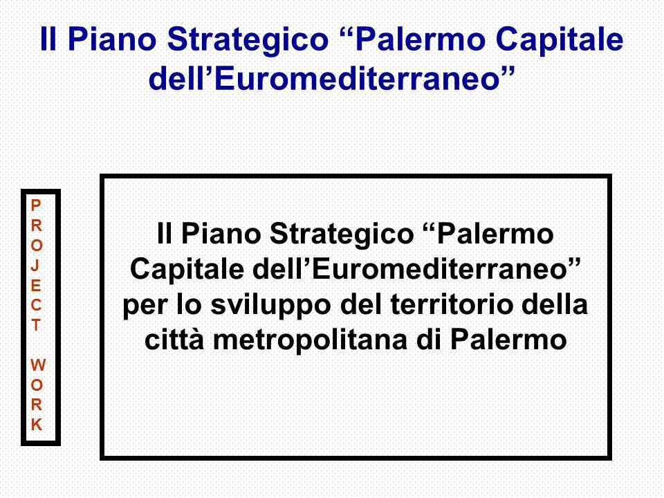 Il Piano Strategico Palermo Capitale dellEuromediterraneo Il Piano Strategico Palermo Capitale dellEuromediterraneo per lo sviluppo del territorio della città metropolitana di Palermo PROJECTWORKPROJECTWORK