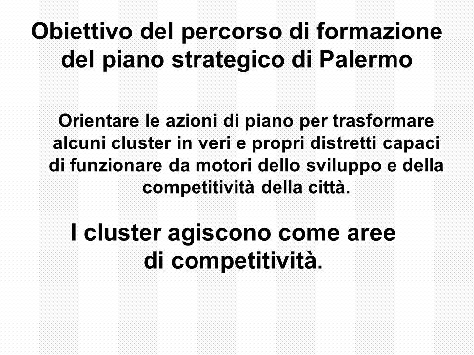 I cluster agiscono come aree di competitività.