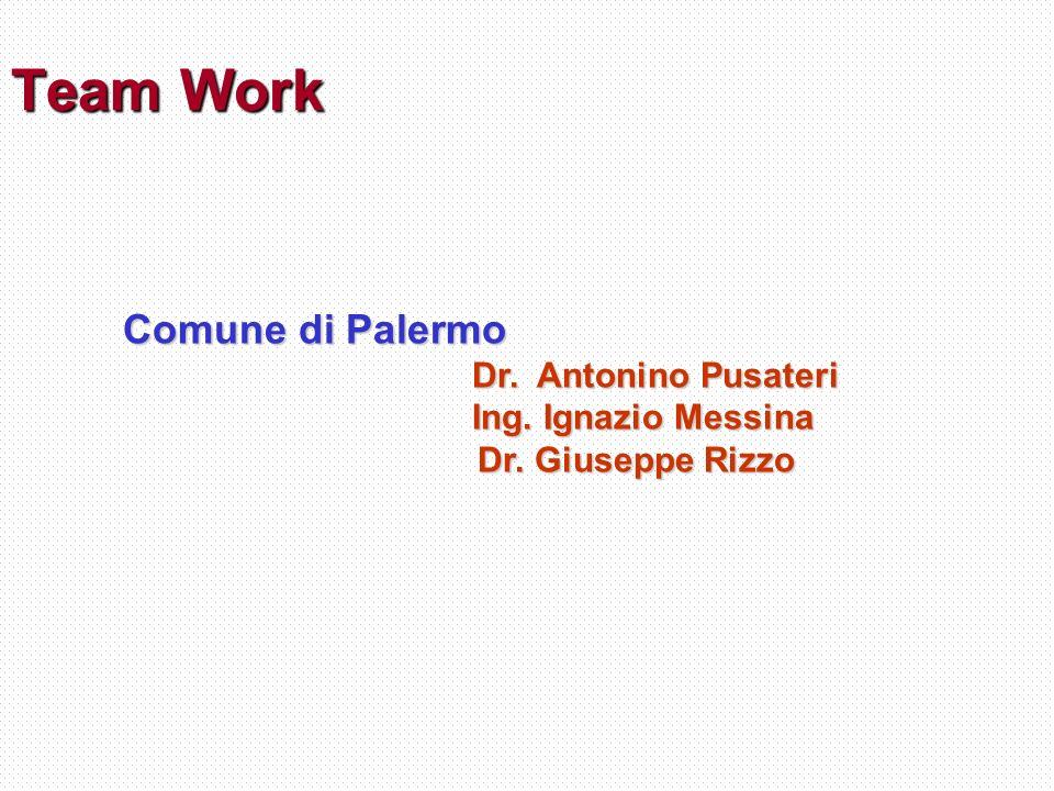 Team Work Comune di Palermo Dr.Antonino Pusateri Dr.