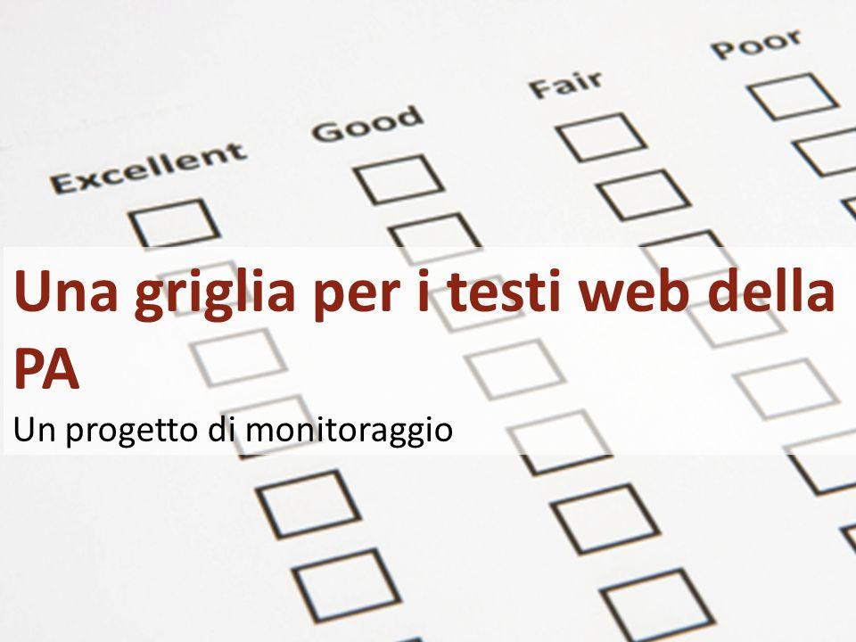 1/20 Giacomo Mason – Maggio 2010 Una griglia per i testi web della PA Un progetto di monitoraggio