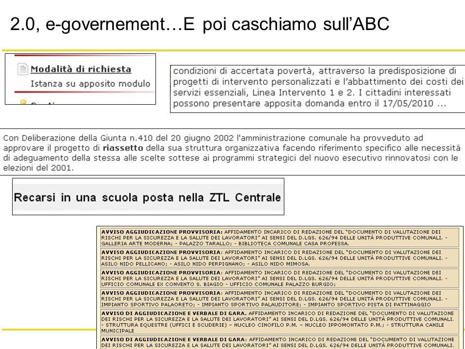 3/20 Giacomo Mason – Maggio 2010 2.0, e-governement…E poi caschiamo sullABC