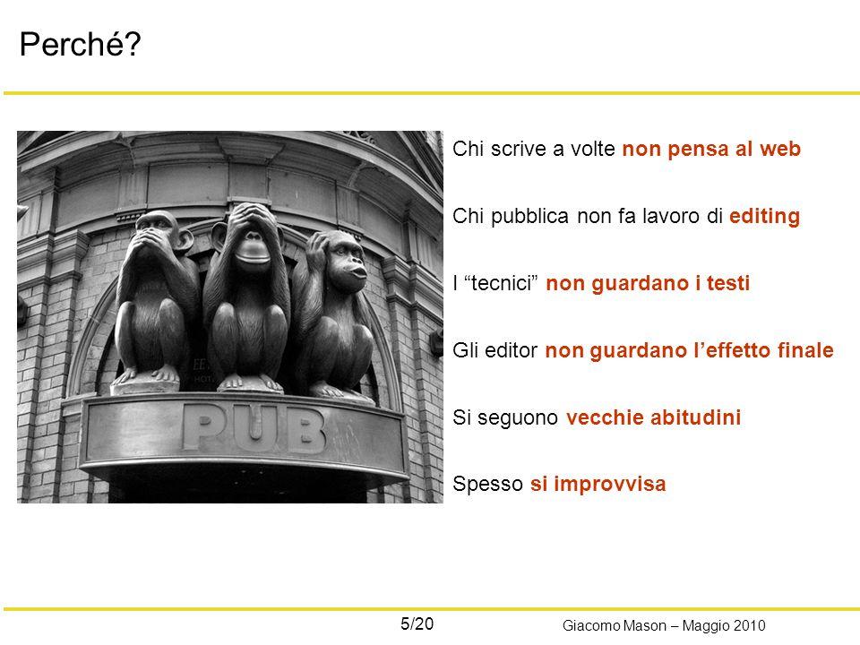 5/20 Giacomo Mason – Maggio 2010 Perché.