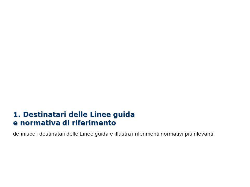 I Webinar di Formez PA – Linee guida per i siti web della PA 1. Destinatari delle Linee guida e normativa di riferimento definisce i destinatari delle