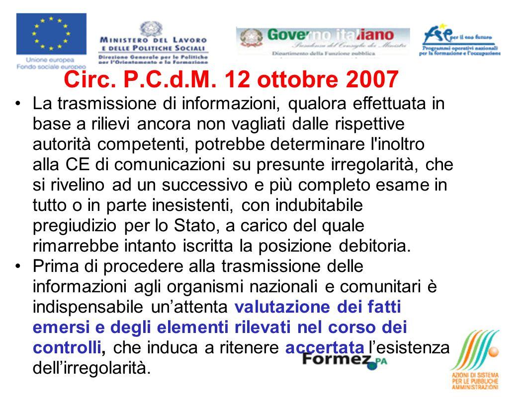 Circ. P.C.d.M.