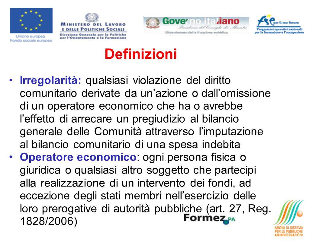 Responsabile della comunicazione per il PO FSE Puglia 2007/2013: Per il PO FSE 2007/2013 lUfficio Contabilità e Affari Generali del Servizio Formazione Professionale, è incaricato della gestione delle irregolarità: 1.raccoglie le informazioni da tutti gli uffici interni ed esterni allamministrazione 2.procede ad una valutazione di tutti gli elementi utili, valutando anche lesistenza di una sospetta frode e, qualora ricorrano le condizioni previste dai regolamenti, procede alla comunicazione dellirregolarità 3.può effettuare propri controlli o chiedere ulteriore documentazione per poter essere in grado di valutare correttamente la natura dellirregolarità segnalata.