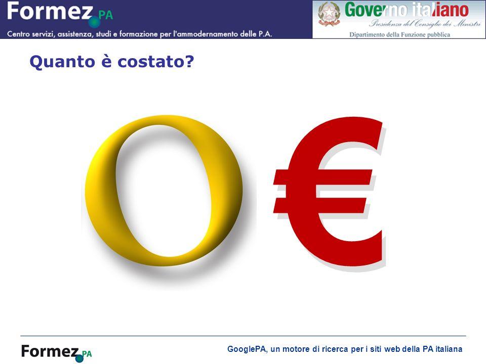 GooglePA, un motore di ricerca per i siti web della PA italiana Quanto è costato