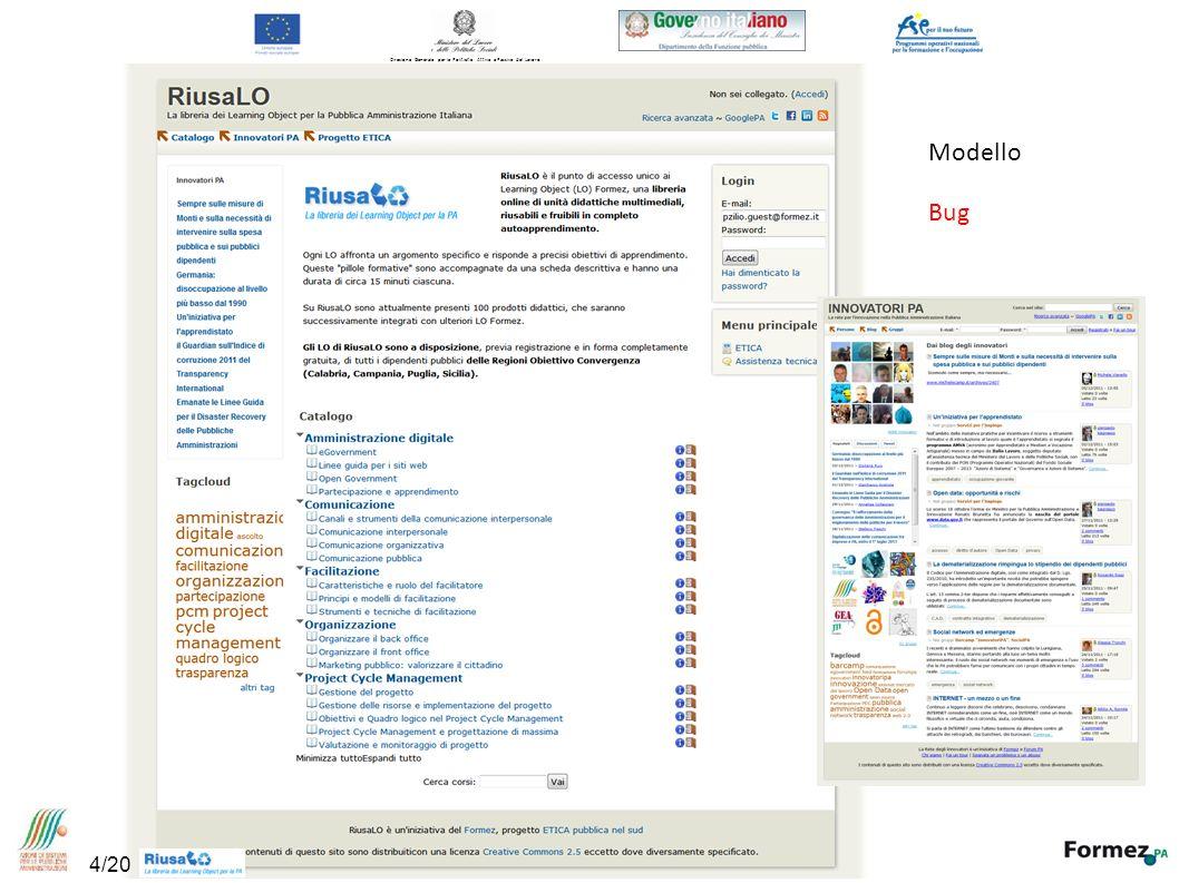 Direzione Generale per le Politiche Attive e Passive del Lavoro Modello Bug 4/20