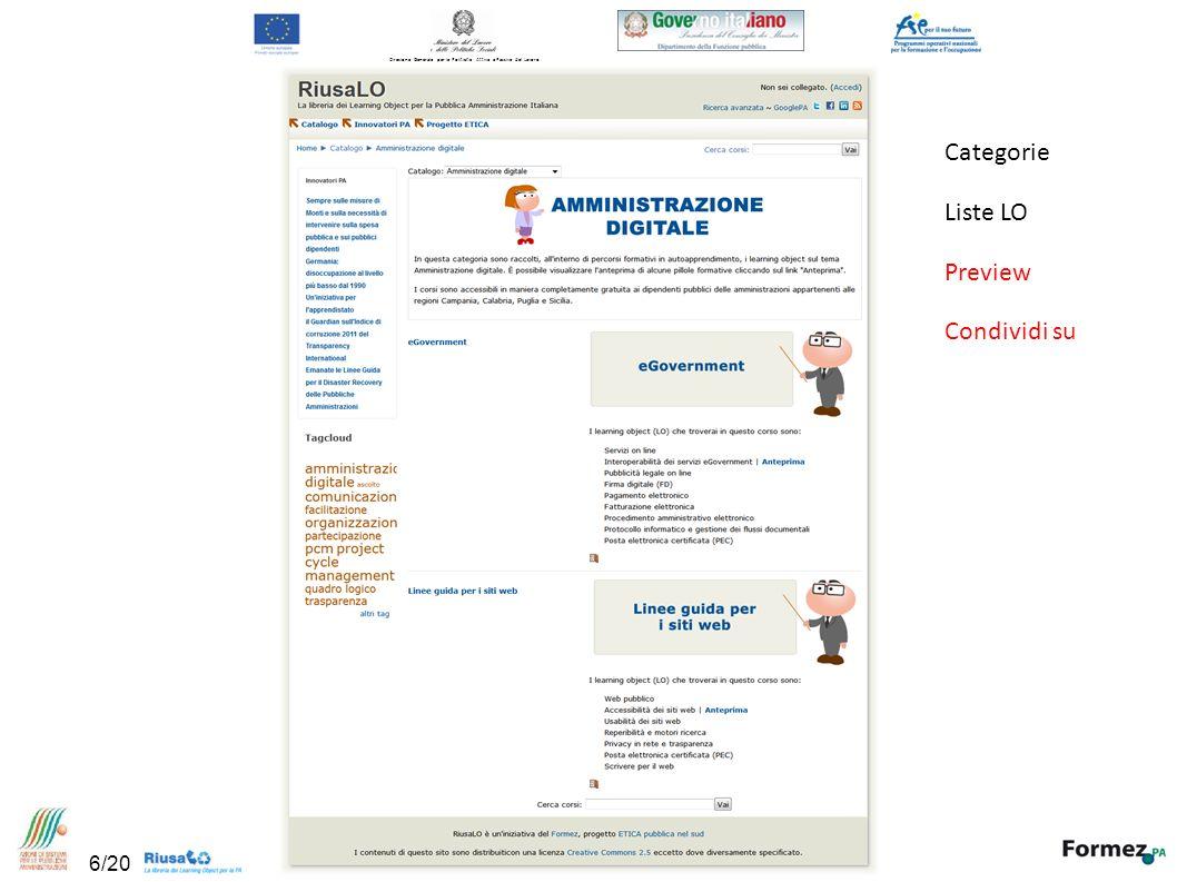 Categorie Liste LO Preview Condividi su Direzione Generale per le Politiche Attive e Passive del Lavoro 6/20