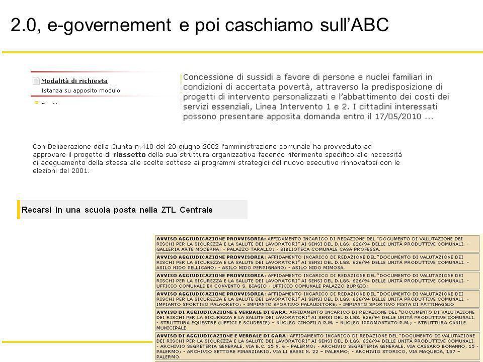3/18 Giacomo Mason – Maggio 2010 2.0, e-governement e poi caschiamo sullABC