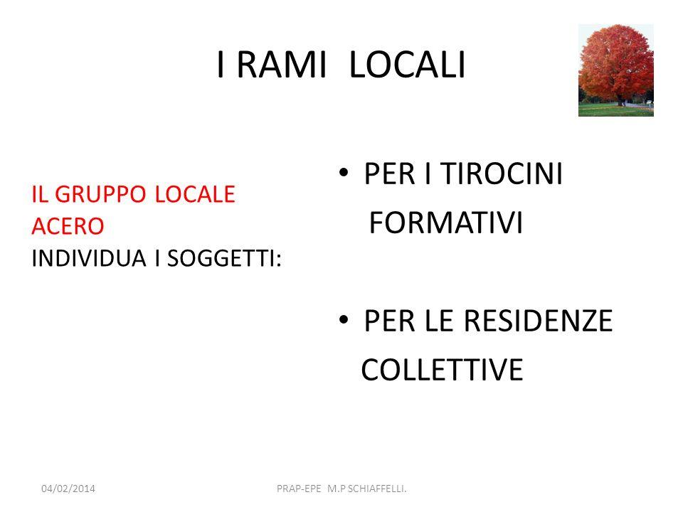 I RAMI LOCALI IL GRUPPO REGIONALE ACERO 04/02/2014PRAP-EPE M.P SCHIAFFELLI.
