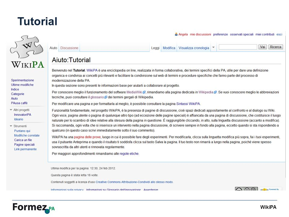 WikiPA Tutorial