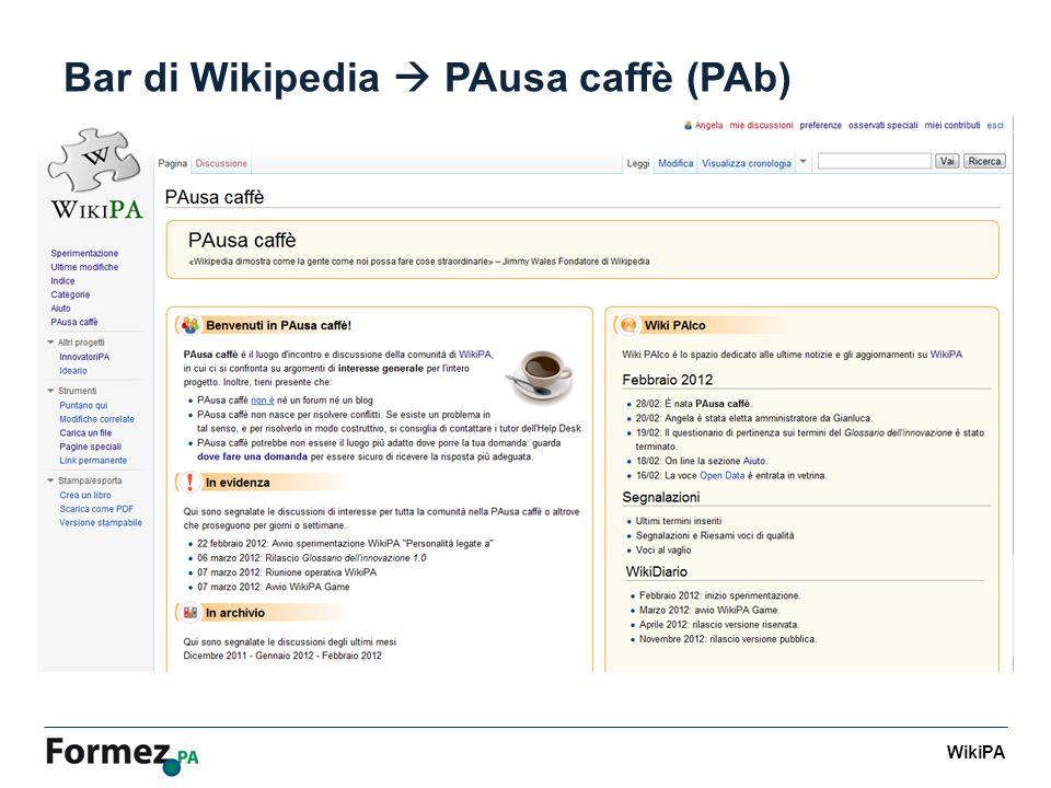WikiPA Bar di Wikipedia PAusa caffè (PAb)