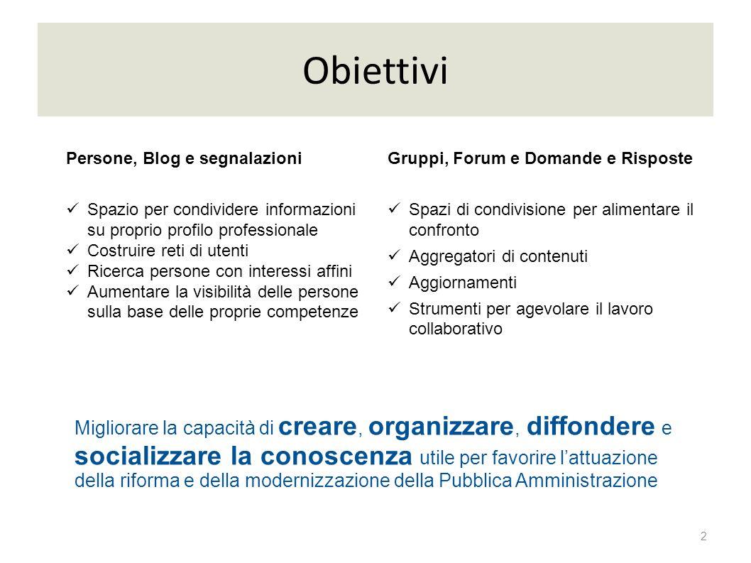 Obiettivi 2 Migliorare la capacità di creare, organizzare, diffondere e socializzare la conoscenza utile per favorire lattuazione della riforma e dell