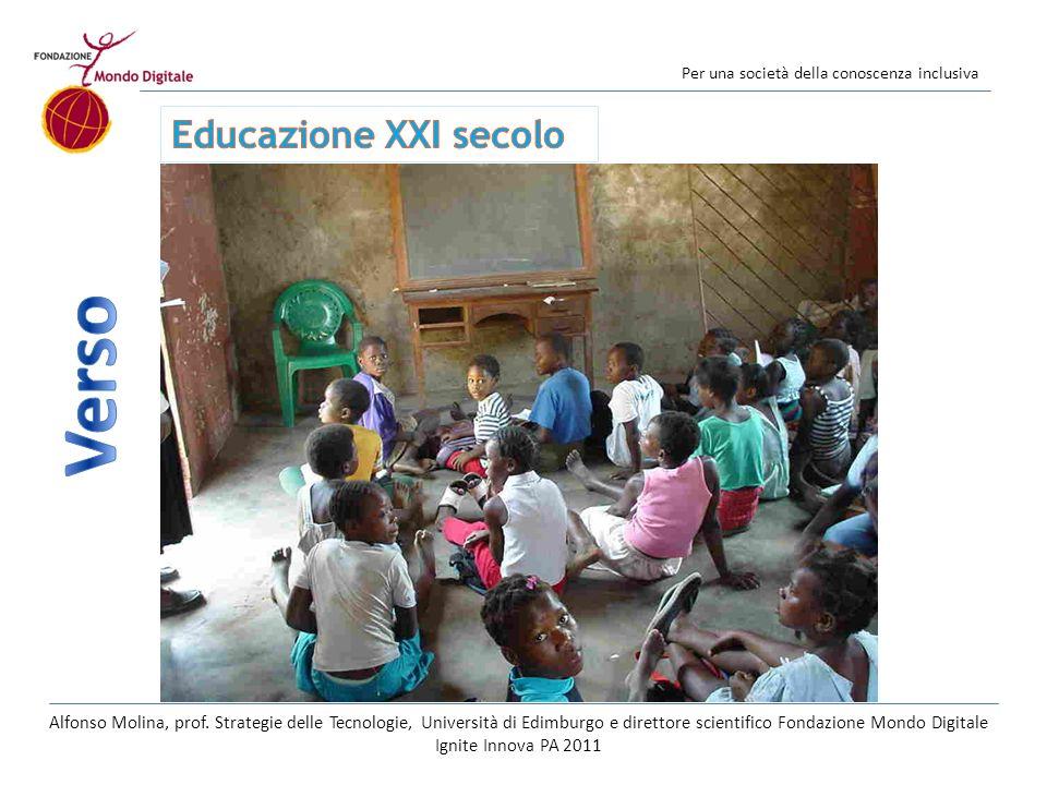 Per una società della conoscenza inclusiva Alfonso Molina, prof.