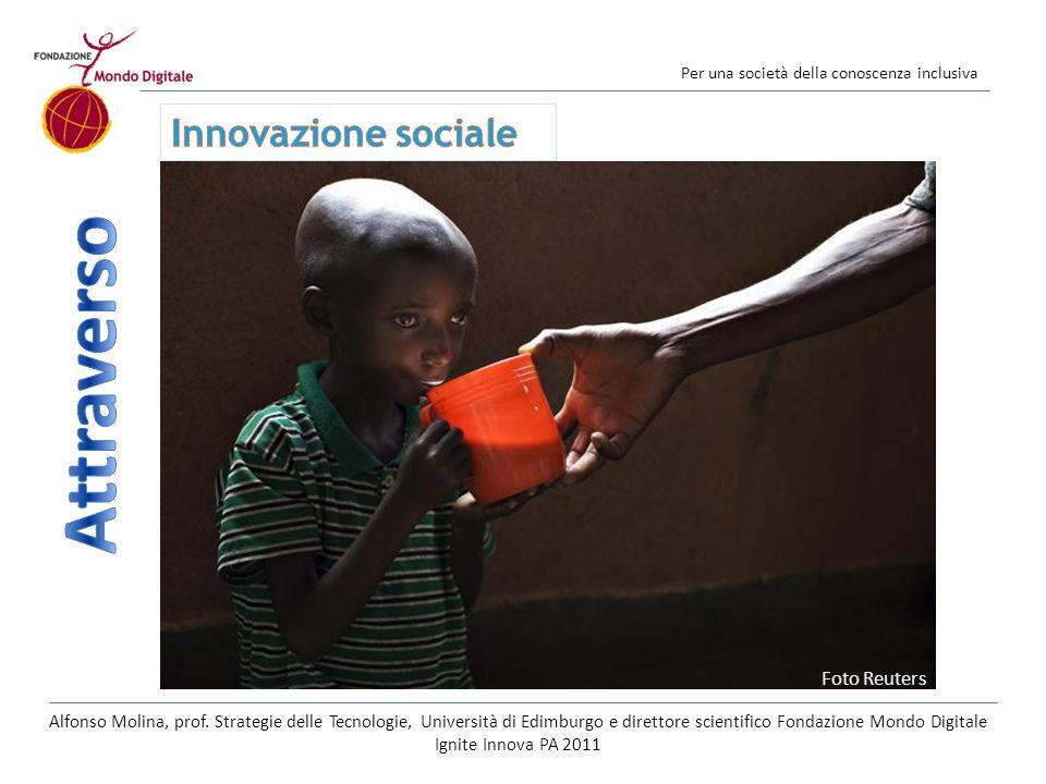 Per una società della conoscenza inclusiva Foto Reuters Alfonso Molina, prof. Strategie delle Tecnologie, Università di Edimburgo e direttore scientif