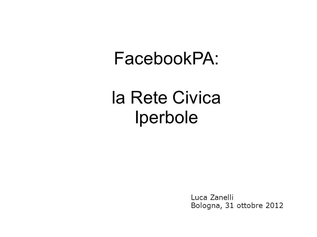 FacebookPA: la Rete Civica Iperbole Luca Zanelli Bologna, 31 ottobre 2012